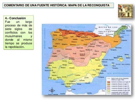 reconquista del reino de 8408176129 comentario fuente hist 243 rica mapa de la reconquista