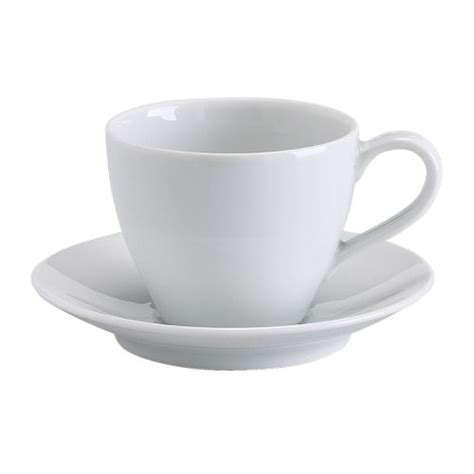 VÄRDERA Coffee cup and saucer White 20 cl   IKEA