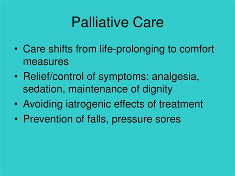 end of life comfort measures ppt end of life care for a person with parkinson disease