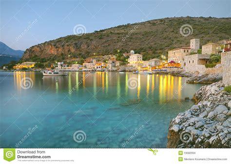 Mediterranean House Plans At limeni village in mani stock images image 19582094