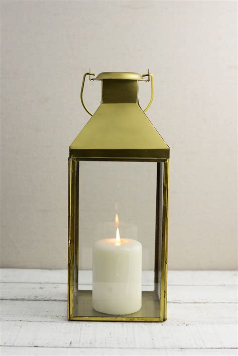 Wholesale Home Decor And Gifts by Metal Lantern Gold 5 5x14in