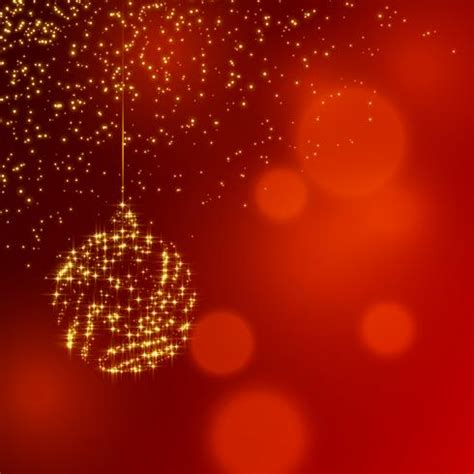 christmas shiny decoration ball  red glitter background   vector art stock