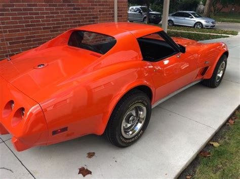 sell used 1975 chevy corvette sport coupe l82 4 speed in coldwater ohio united states 1975 corvette coupe l82 orange with black interior classic chevrolet corvette 1975 for sale