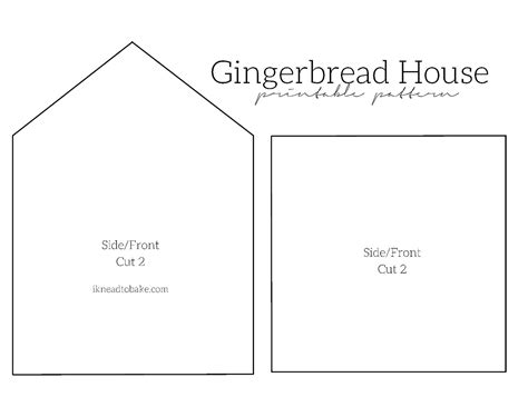 large gingerbread house template printable gingerbread house pattern www imgkid com the image kid