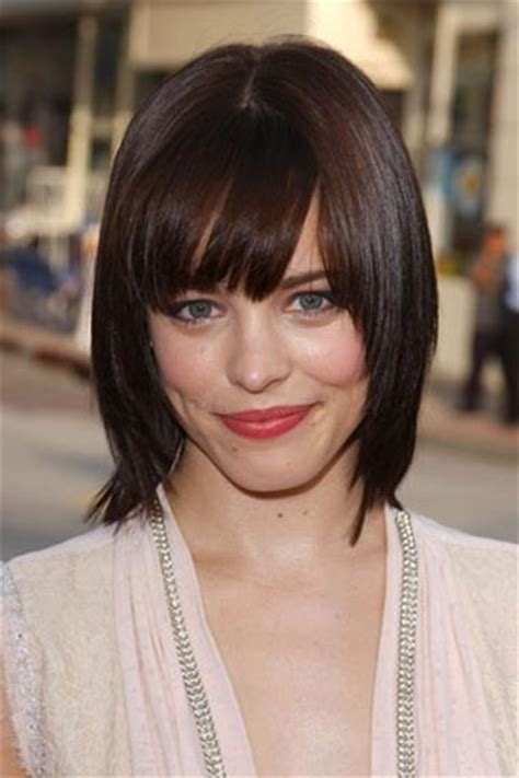 medium length hairstyles for fuller faces best bangs hairstyles inspired from celebrity