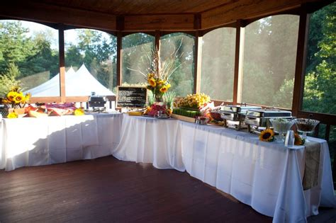 Buffet Table L by Buffet Table Arrangement In Quot L Quot Shape Deanna And Michael S Wedding