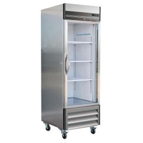 maxx cold  series  cu ft single glass door commercial