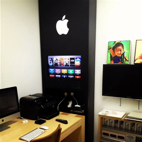 an apple store inspired home office design