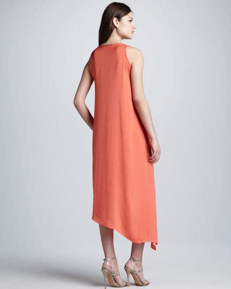 Asymmetric Hem Tank Dress bcbgmaxazria asymmetric hem layered tank dress