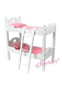 Dolls Bunk Beds The Southern Market Solid White Wooden Doll Bunk Bed