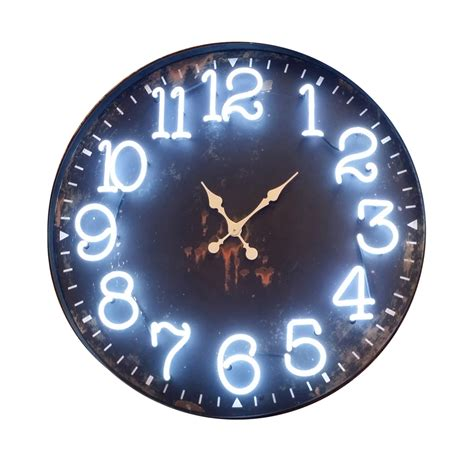 Designer Kitchen Canisters Vip Metal Neon Wall Clock 163 Mt2159