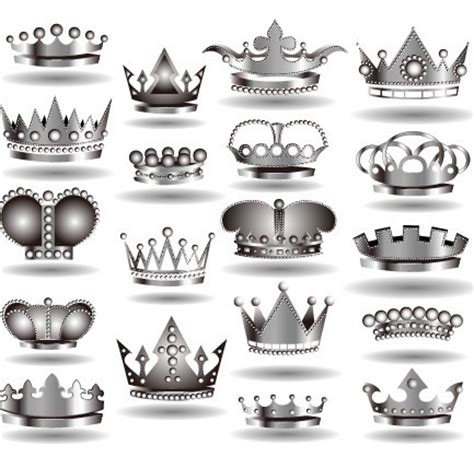 free set of elegant imperial crown designs vector 02 titanui