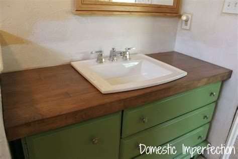 Wooden Bathroom Countertops by Use Wood Flooring For Vanity Top Diy Projects