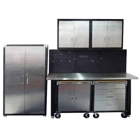 stainless steel workbench cabinets 7 standard garage storage system with stainless