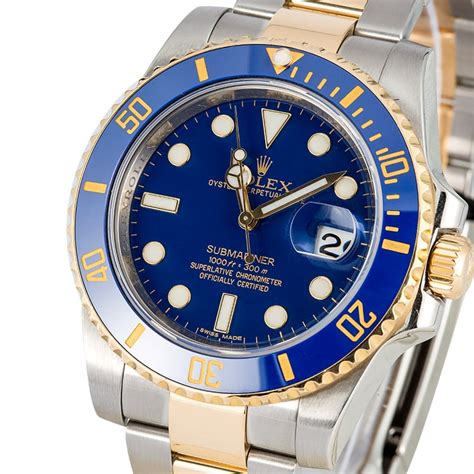 Rolex Chronometer Combi Gold Blue rolex submariner 116613 steel and gold blue