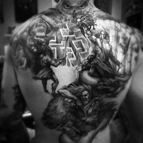 40 minotaur tattoo designs for men greek mythology ideas