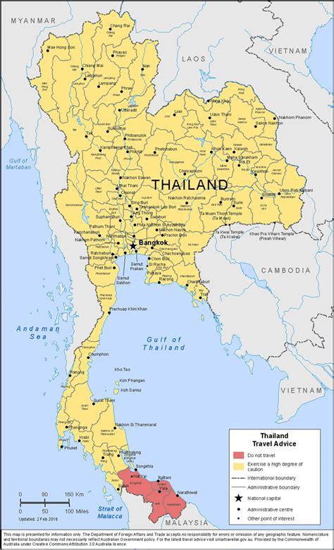 travel advice for thailand australian department of