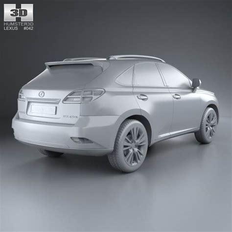 2009 Lexus Models by Lexus Rx Hybrid 2009 3d Model Hum3d