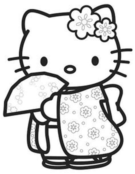 japanese hello kitty coloring pages coloring pages on pinterest dover publications coloring