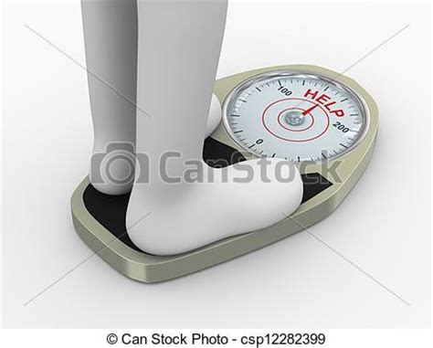 J Cbell Sketches by Stock Illustration Of 3d Weight Scale With Help Word 3d