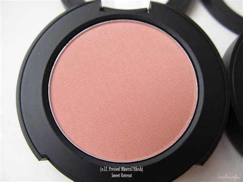 e l f blush e l f mineral pressed mineral blush review makeupfu