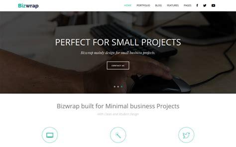 bootstrap themes minimal download bizwrap clean minimal business bootstrap theme