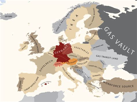 europe map germany a map of how americans view europe the american catholic
