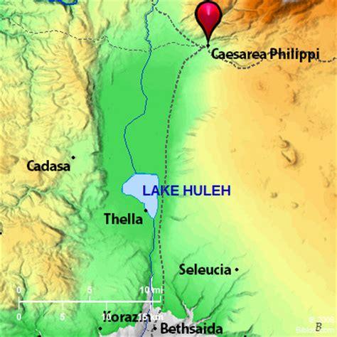 caesarea philippi map bible map caesarea philippi