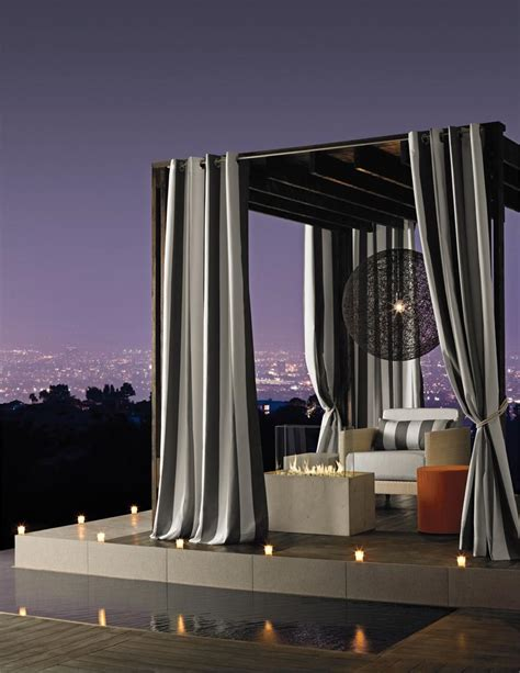 outdoor sunbrella curtains sunbrella stripe outdoor curtain panel available in 7 colors