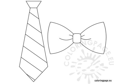 mens bow tie coloring pages