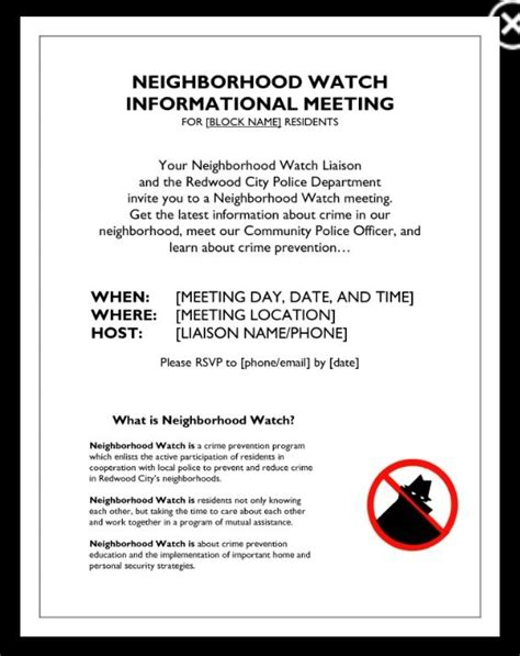 Invitation Letter Neighborhood Neighborhood Flyer Template Neighborhood Neighborhood Flyer