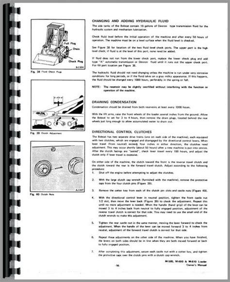 Bobcat 500 Skid Steer Loader Operators Manual