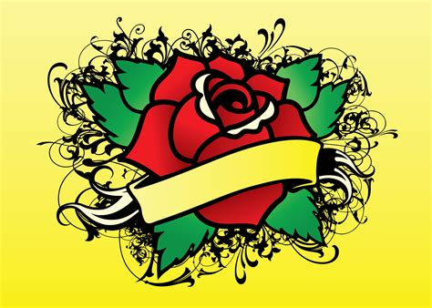 rose tattoo logo vector