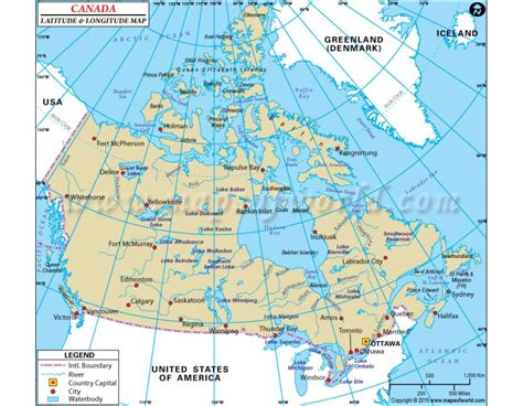 canadian map with latitude and longitude canada latitude and longitude map