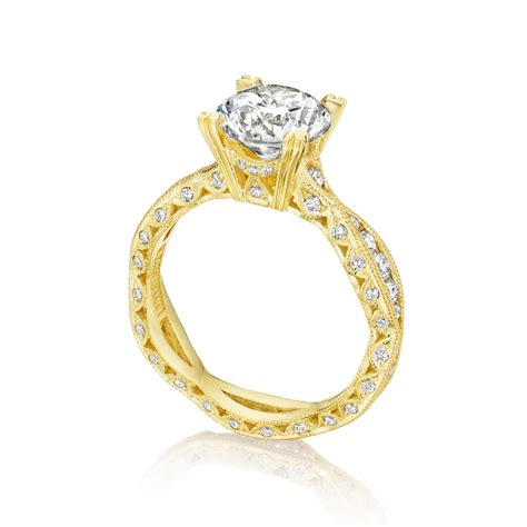 tacori engagement rings gold twist setting