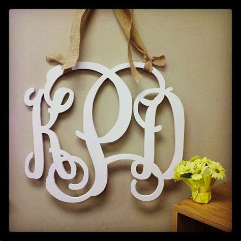 Monogram For Front Door 16 Inch Painted Wooden Monogram Wedding Monogram Front Door Letter Wedding Sign Guestbook