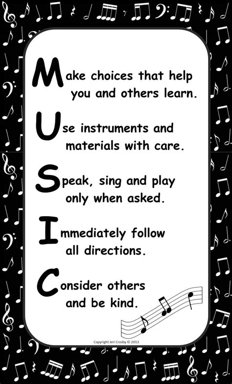 anchor setup for bands mounted to the wall mymusicalmagic freebie class poster