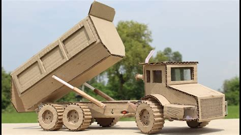 How To Make A Box Out Of Construction Paper - wow how to make a dump truck with cardboard at home