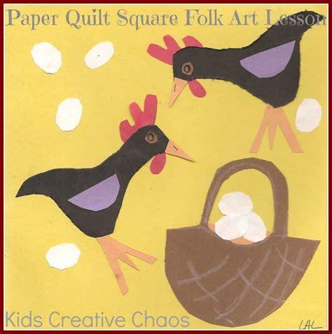 Quilt Paper Craft - folk quilt paper craft for preschool
