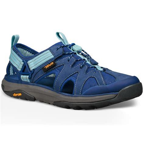 blue sandals teva women s terra float active lace hiking sandals blue