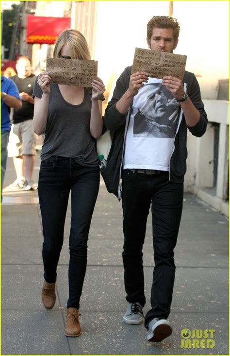 emma stone and andrew garfield back together emma stone andrew garfield seen holding hands report