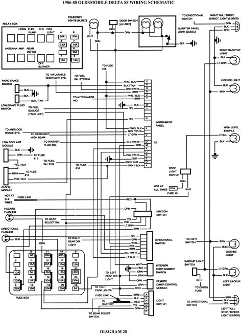 service manuals schematics 1995 oldsmobile 98 on board diagnostic system 1995 oldsmobile 88 tail light wiring schematic tail crackthecode co