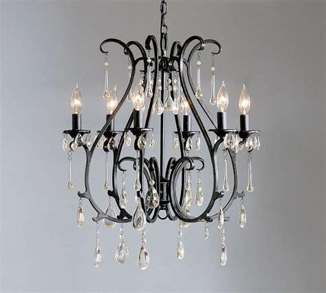 celeste crystal chandelier blackened finish
