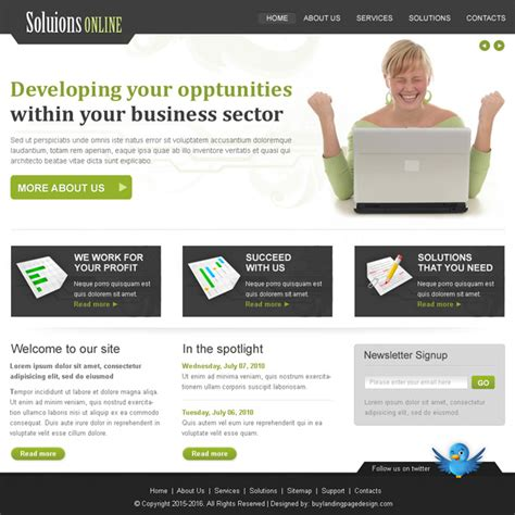 website templates for online business creative best website template psd for sale to create