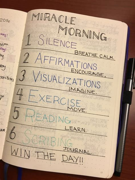 the miracle morning companion planner books miracle morning and bullet journal mindful planning