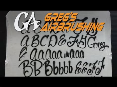How To Airbrush The Script Alphabet  Ee  Lettering Ee   Basics