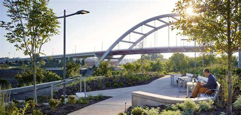 west riverfront park gibson landscape