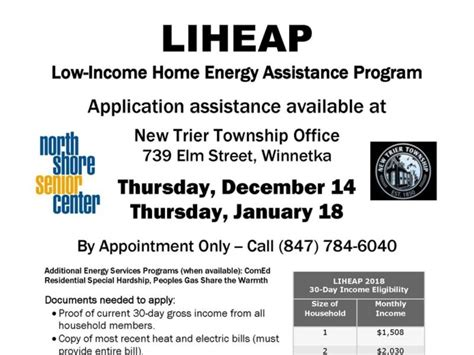 low income home energy assistance applications at