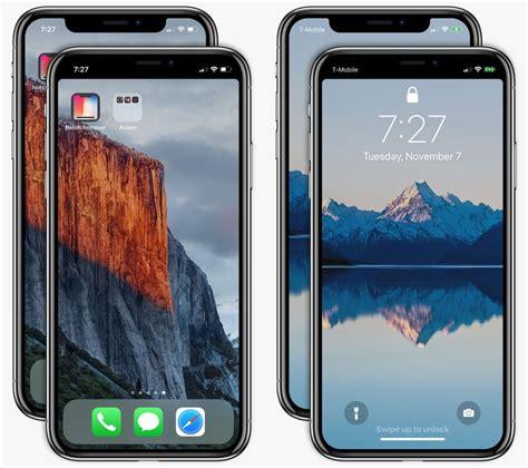 hide iphone xs notch   lock  home screen