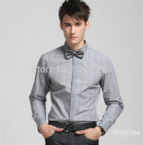 design engineer dress code small men s shirt tie a bow of long sleeved casual light